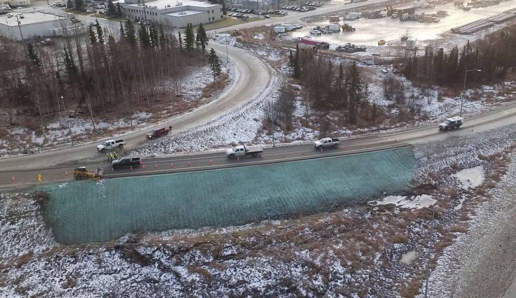 Alaska Highway repair by Alaska DOT&PF